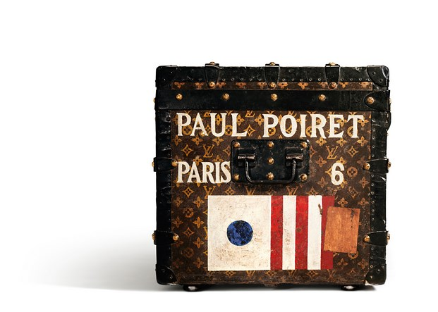Malle-courrier en toile Monogram ayant appartenu a Paul Poiret, 1911.