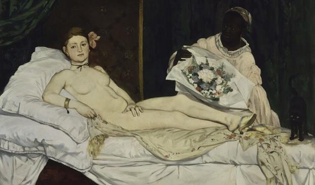 Olympia de Manet, 1863 (Copiar)