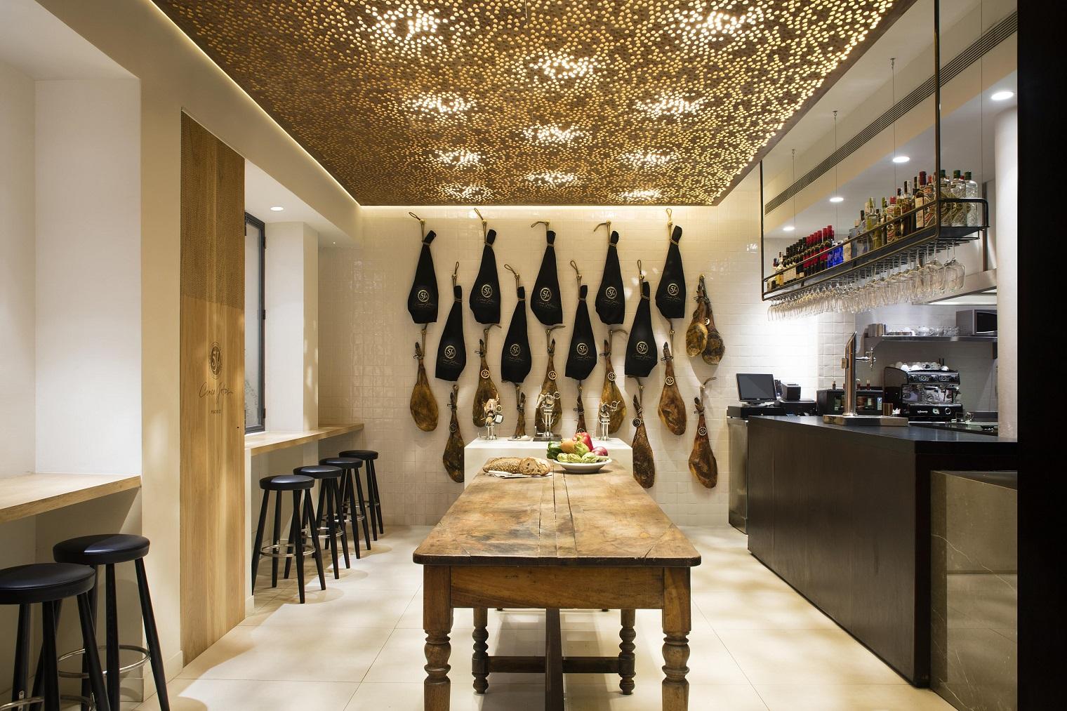 Restaurante cinco jotas en madrid - Estilos de interiorismo ...