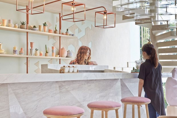 Shugaa Heladera Verde Y Rosa En Bangkok Diariodesigncom