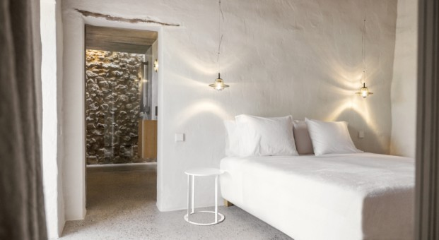 Dormitorio de Can Basso en ibiza