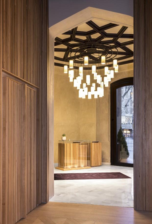 Lobby del monument hotel en barcelona