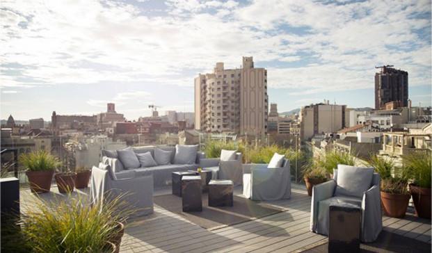 Yurbban Hotel barcelona terraza diariodesign