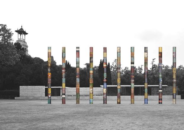 2 columnas cristalizadas fundacio mies