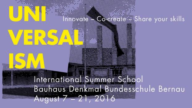 Universalism-Escuela verano Bauhaus 2016