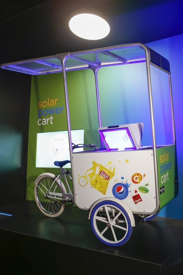16 pepsico mix it up Solar Power Cart