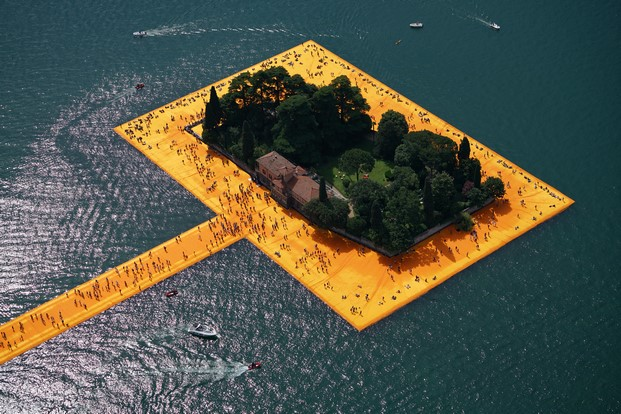 3 The Floating Piers, Lake Iseo, Italy