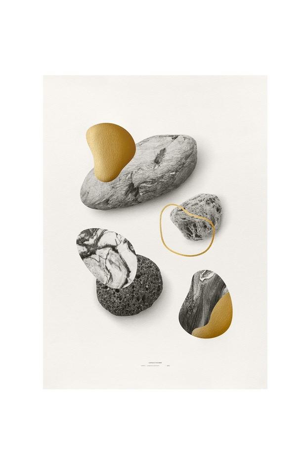 4 Póster Rocks in Gold de Congo Studio