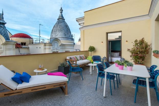 vista desde terraza the mint roof vincci  terraza en madrid jaime beriestain