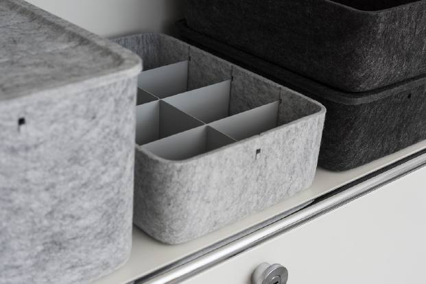usm inox box cajas y accesorios de fieltro para mobiliario diariodesign