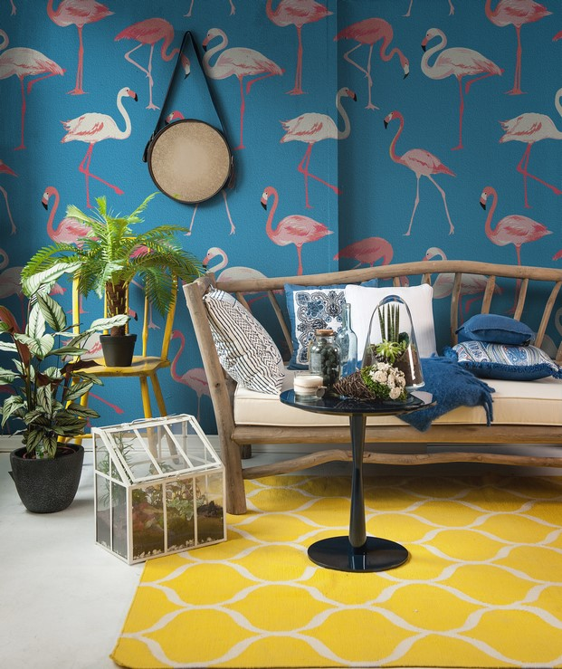 2 tropical murals wallpaper