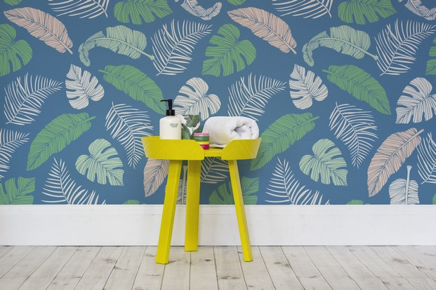 4 tropical murals wallpaper