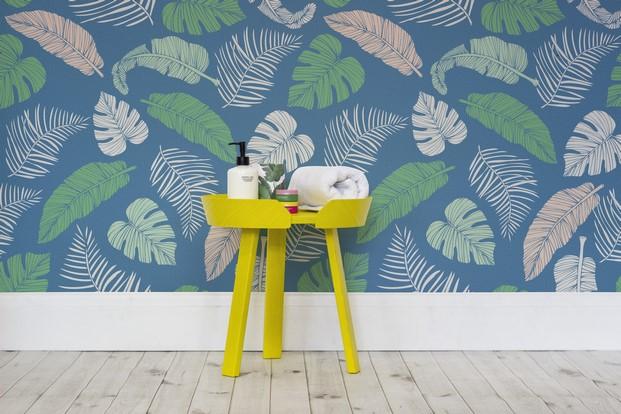 4 tropical murals wallpaper