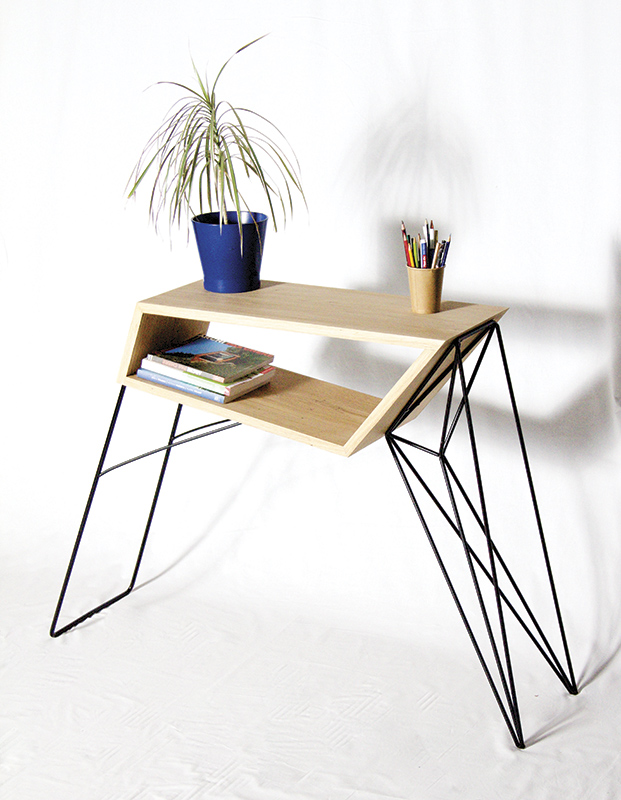 AntoineGArtisanDesigner_Oak_MetalSideTable05_CROWDYHOUSE