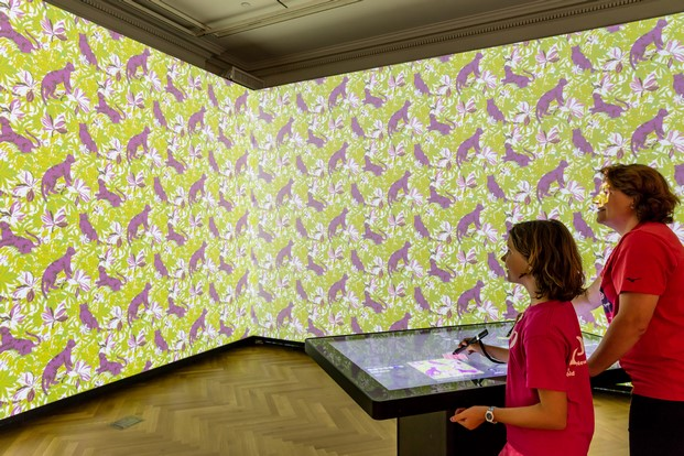 USA Installation view of Immersion Room. Photo by Allison Hale © 2016 Cooper Hewitt, Smithsonian Design Museum