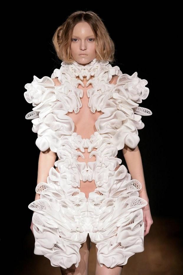 Vestido Escapsim, de Iris Van Herpen y Daniel Widrig en colaboracion con Materialise