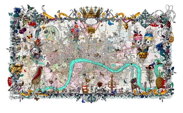 Mapa de Londres, de Kristjana S Williams