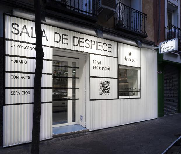 fachada de la sala de despiece en madrid