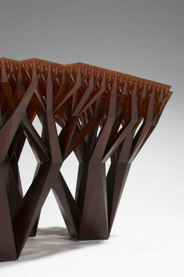Mesa Fractal.MGX, del estudio WertelOberfell realizada por Materialise