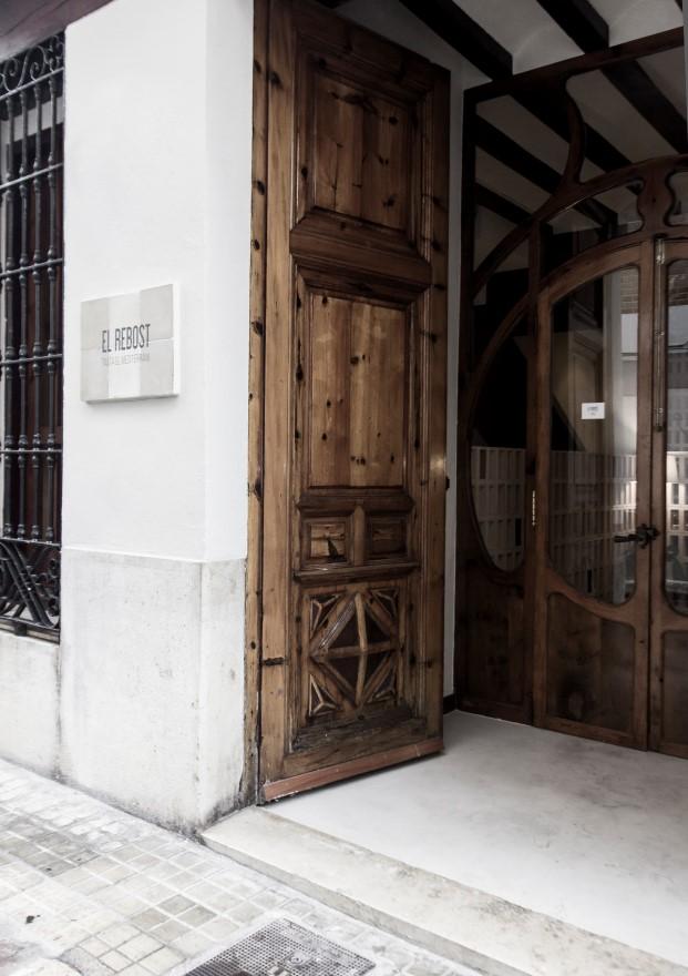 entrada del restaurante el rebost de borja garcia