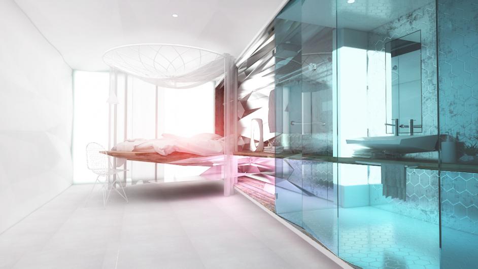 proyecto hotel amister de Verónica Olteanu para ied barcelona escuela de interiorismo