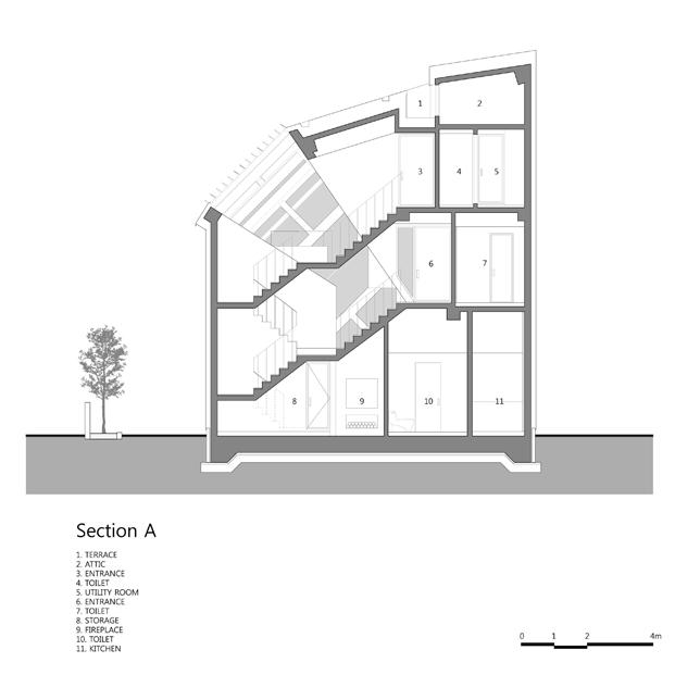 louverwall cafeteria en corea del sur fachada planos diariodesign