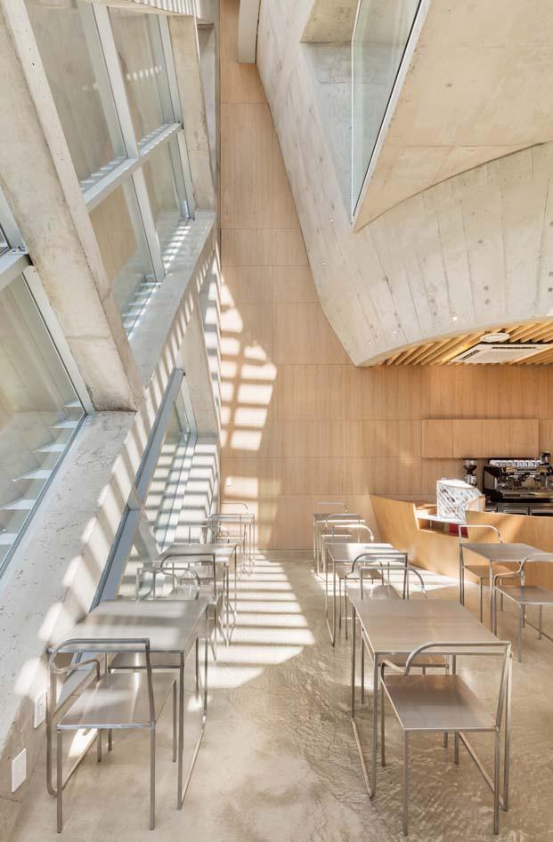 louverwall cafeteria en corea del sur fachada diariodesign