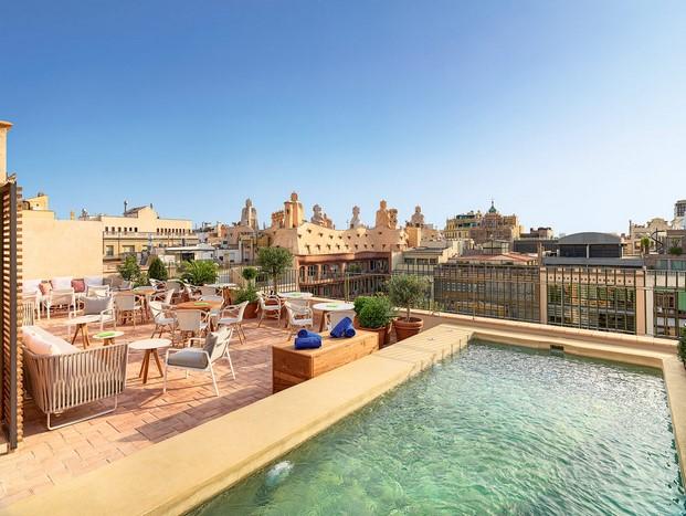 Casa Mimosa H10 en barcelona terraza diariodesign