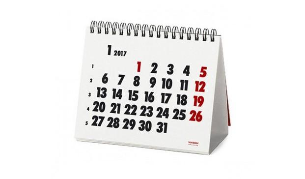 calendario vincon 2017 clasicos diseno barcelona sobremesa