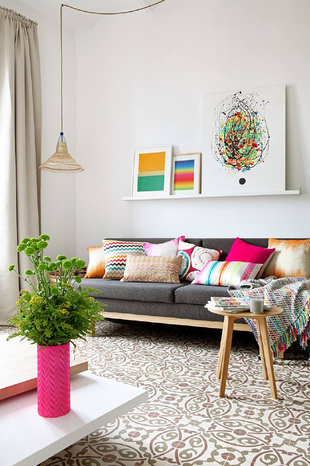 muebles en un pequeno piso de alquiler en barcelona diariodesign