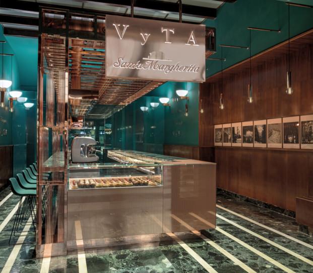 panadería de lujo en la estación de tren de Florencia