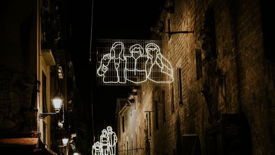 luces de navidad de curro claret en el raval diariodesign