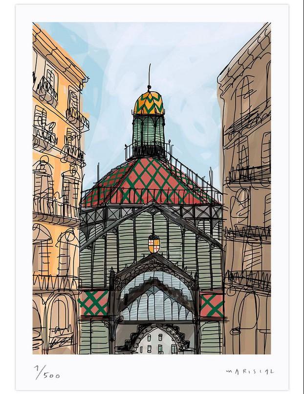 Print Mariscal Mercat del Born en diariodesign