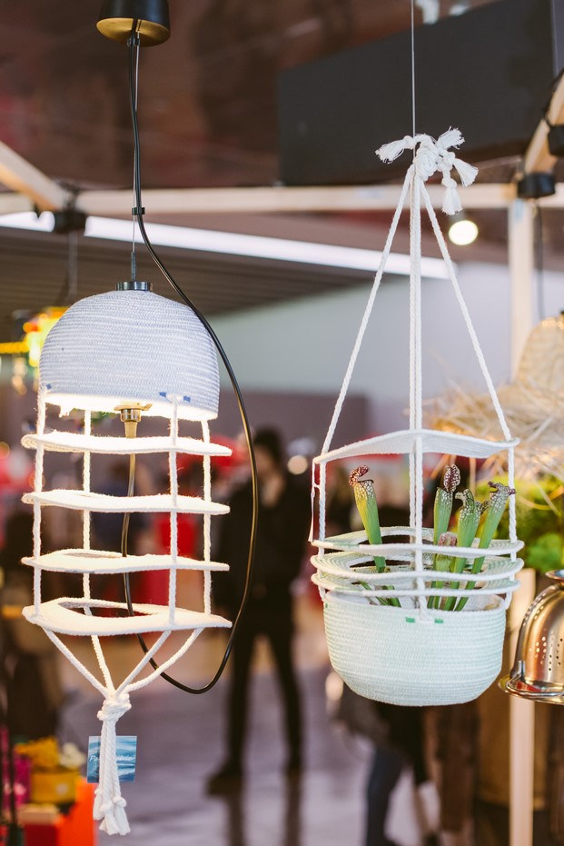 lamp it de macrame en el design market 2016