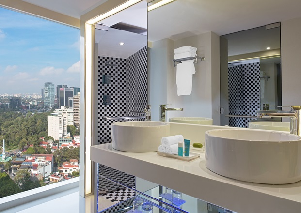hotel w mexico city bano diariodesign