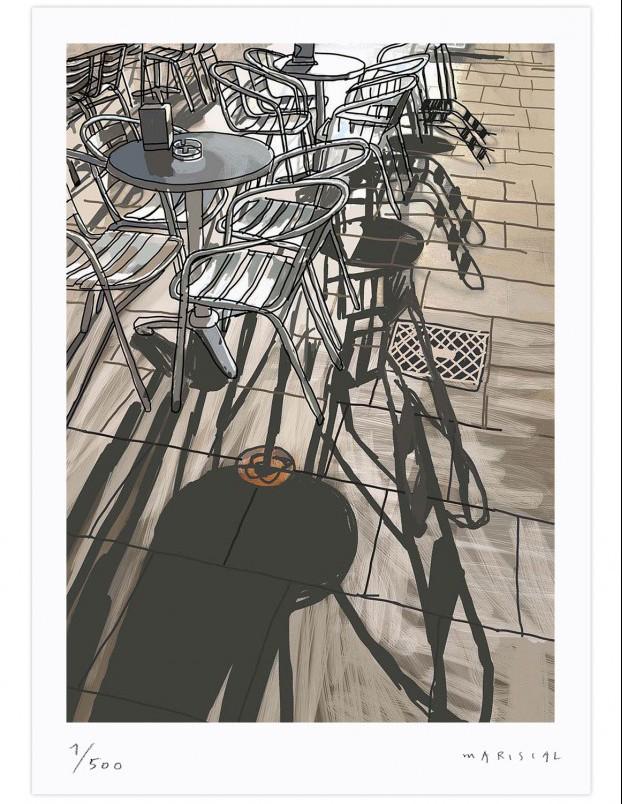 mariscal en diariodesign print digital bar terraza  Born Barcelona