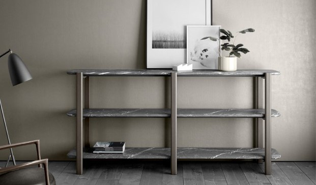 mesita de marmol de carrara de color gris de Retegui