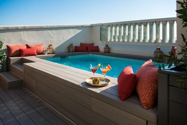 piscina de Vincci hoteles Mae West en Barcelona diariodesign