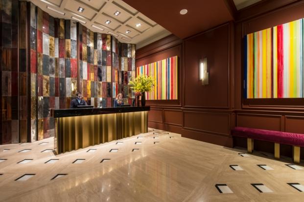 hall Vincci hoteles Mae West en Barcelona diariodesign de Jaime Beriestain