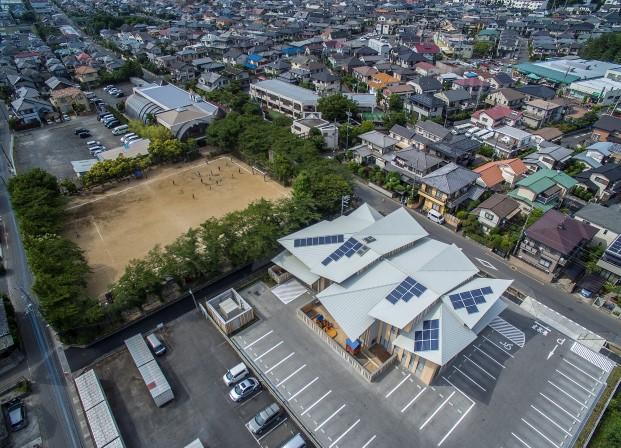vista aerea kasa kengo kuma d Aitoku Hoikuen en Japon DiarioDesign