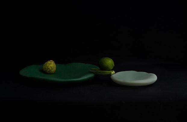 coleccion canova vajilla verde de vajilla Constance Guisset para Moustache diariodesign
