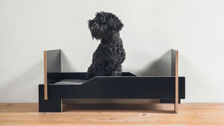 klaffer cama para tu mascota en negro diariodesign