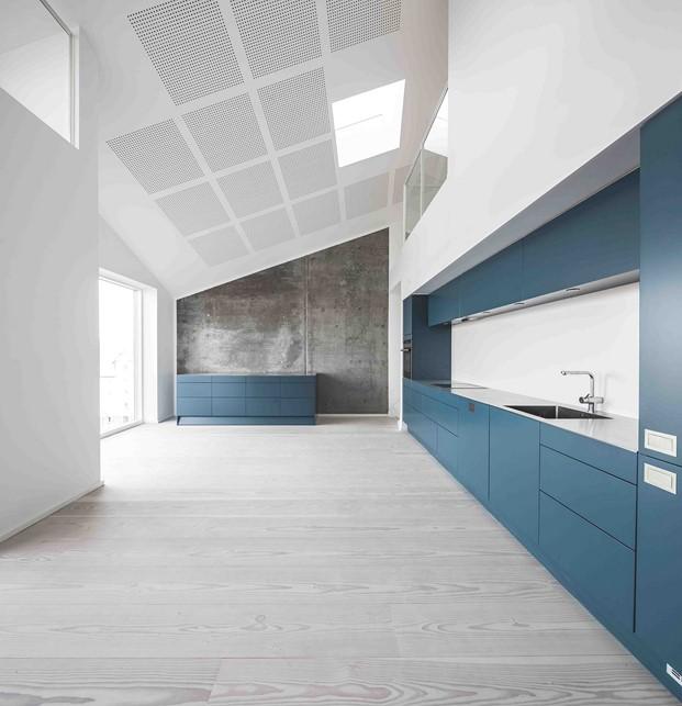cocina de apartamentos de Krøyers Plads arquitectura democratica Vilhelm Lauritzen Architects diariodesign