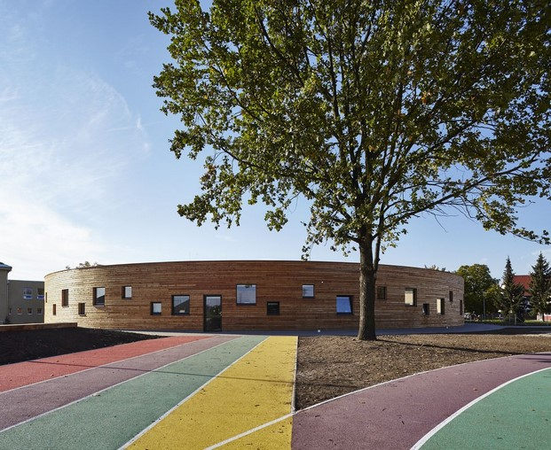 New pavilion of an elementary school diariodesign 1