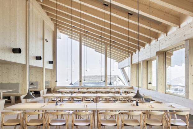 aislamiento termico en Restaurante en Chäserrug diariodesign