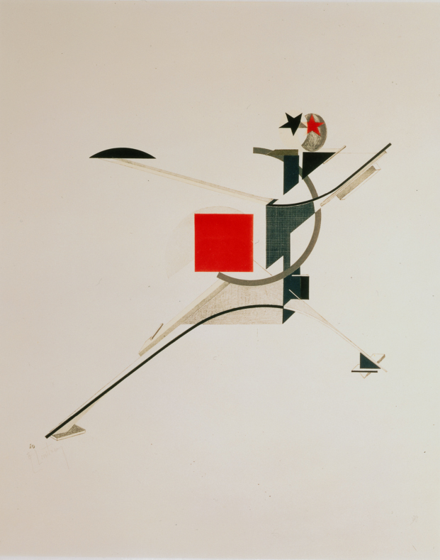 lissitzky the New Man from The three dimensional design of the electro mechanical show diariodesign