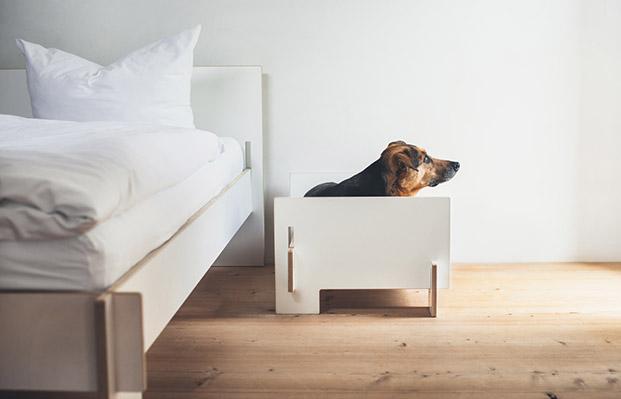 klaffer cama para perros en blanco diariodesign