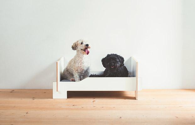 klafferdogbed klaffer cama madera contrachapada para mascotas perros diariodesign