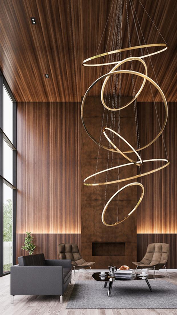 mejor instalación lumínica Lohja de Cameron Design House Londres contract de diseño para hostelería en diariodesign