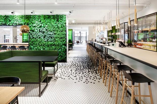 jardin vertical restaurante the kitchen diseno en verde en los almacenes Bijenkorf diariodesign